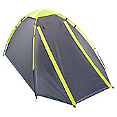 Tesco 4-Man Dome Tent - Grey/Green