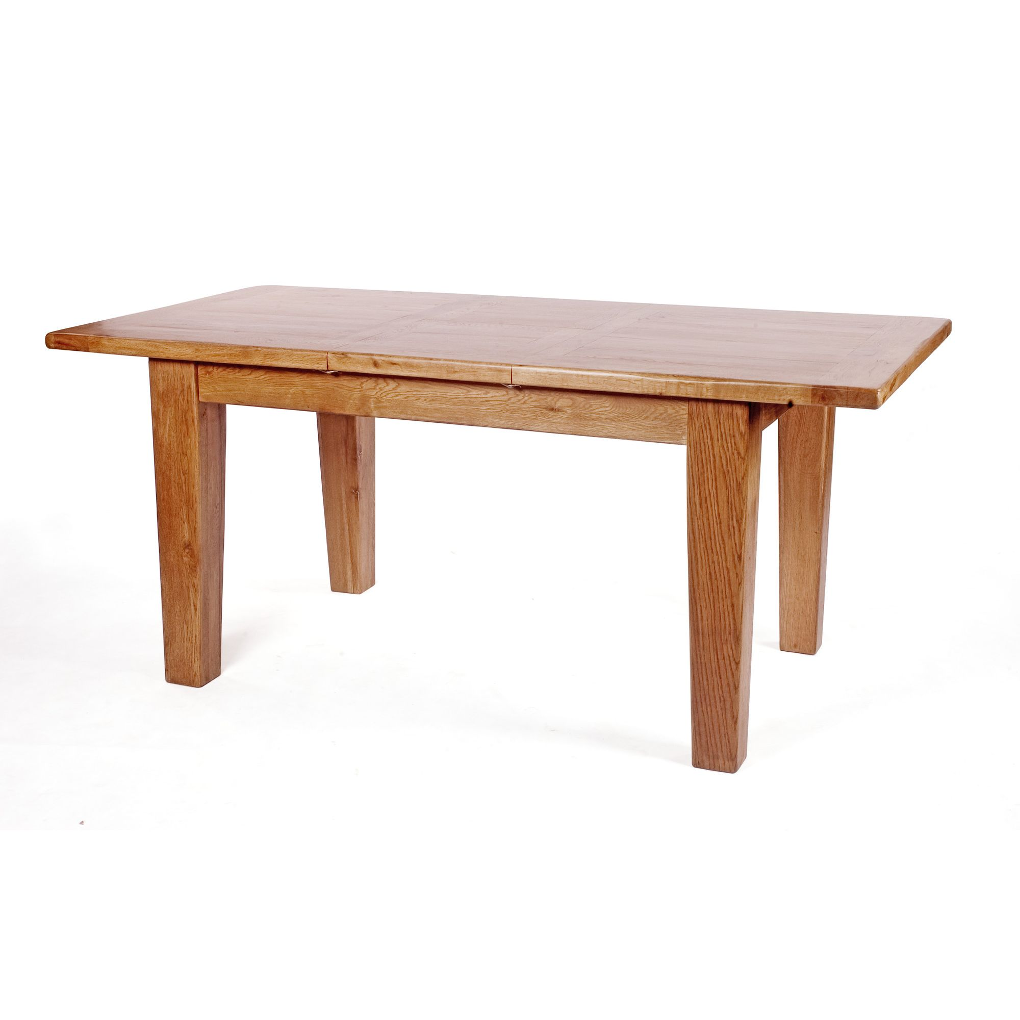 Wiseaction Florence Extension Solid Oak Dining Table - 180cm x 90cm