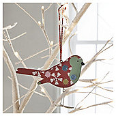 Vintage Wood Bird Floral Hanging Decoration