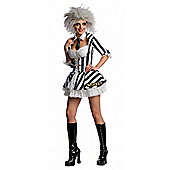 Rubies Fancy Dress - Secret Wishes - Beetlejuice Costume - ADULT MEDIUM