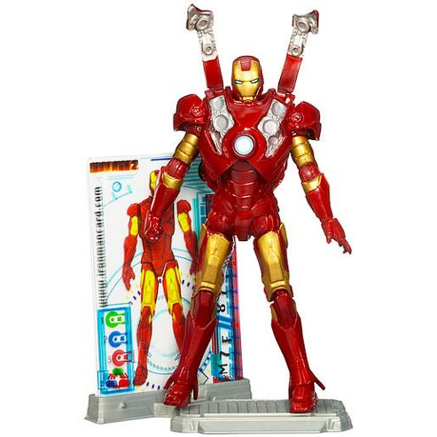 Iron Man 2 10cm Movie Series Red Figures