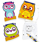 3 Little Owls Memo Notepads (Pack of 6)