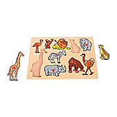 Bigjigs Toys BJ096 Jungle Lift Out Puzzle