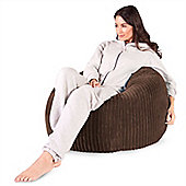 Lounge Pug™ Classic Cord Bean Bag - Mocha