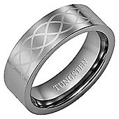 Willis Judd New Mens Celtic Pattern 8mm Tungsten Ring