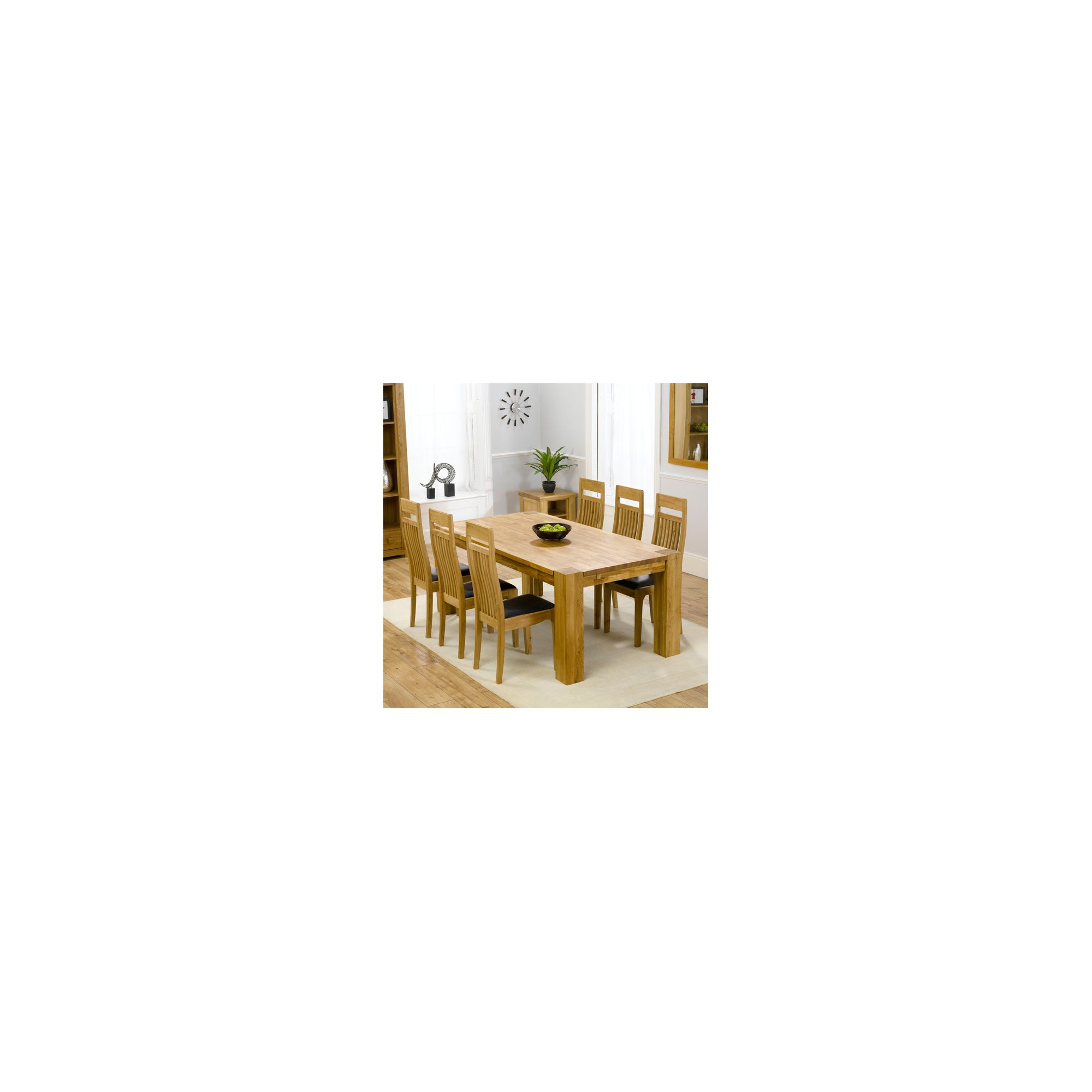 Mark Harris Furniture Madrid Chunky Solid Oak Dining Table with Monte Carlo Chairs