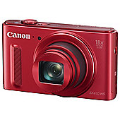 Canon PowerShot SX610 Digital Camera, 20.2MP CMOS Sensor, 18x Optical Zoom, Wi-Fi, NFC, Red