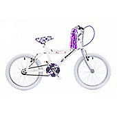 "Concept Secret 18"" Kids' Bike, White/Lilac"