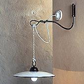Ferroluce Torino 30 cm 1 Light Wall Bracket in Blue / Black Copper