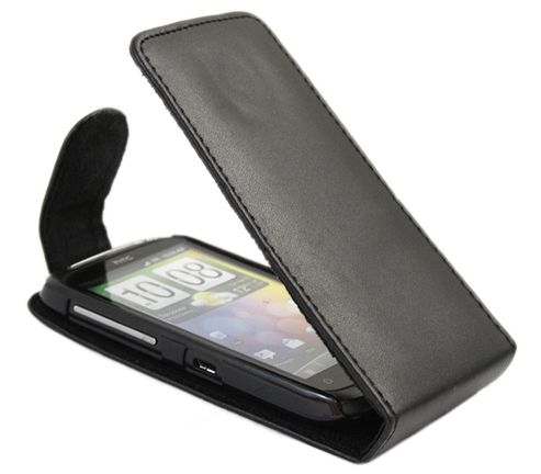 iTALKonline 18514 Black FlipMatic Easy Clip On Vertical Pouch Case - HTC Desire S