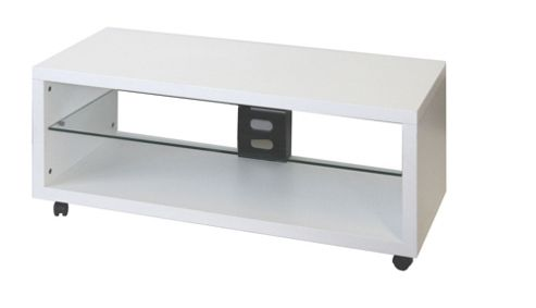 OMB Opera TV Stand - Engraved White