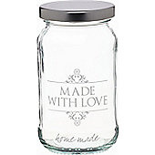 KitchenCraft Home Made 454ml Decorated 'Love' Preserving Jar Loose