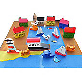 Apples To Pears Wooden Fishing Port in a Tin