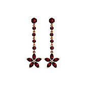 QP Jewellers 4.80ct Garnet Daisy Chain Earrings in 14K Rose Gold