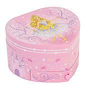 Pink Fairy Heart Shaped Musical Jewellery Box