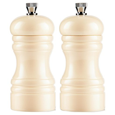 Tesco Lacquer Salt and Pepper Mill Cream