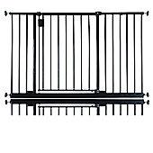 Safetots Extra Wide Hallway Gate Black 115cm - 121cm