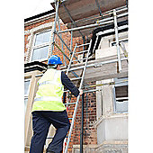 Heavy Duty 4.0m (13.1ft) Tuff Steel Single Pole Ladder