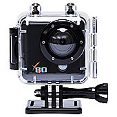 "Kaiser Baas X80 Action Camera, 2"" LCD Screen, Full HD, Waterproof"