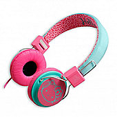 Headphones Pink and Blue