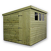 8ft x 5ft Pressure Treated T&G Pent Shed + 3 Windows + Side Door