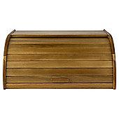 Roll Top Wooden Bread Bin