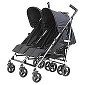 Baby Elegance Flow Twin Pushchair, black