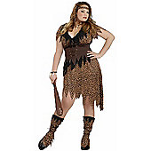 Cave Beauty Cave Girl Costume (Plus Size)