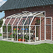 Rion sun room clear glazing 6X10 white extruded resin frame