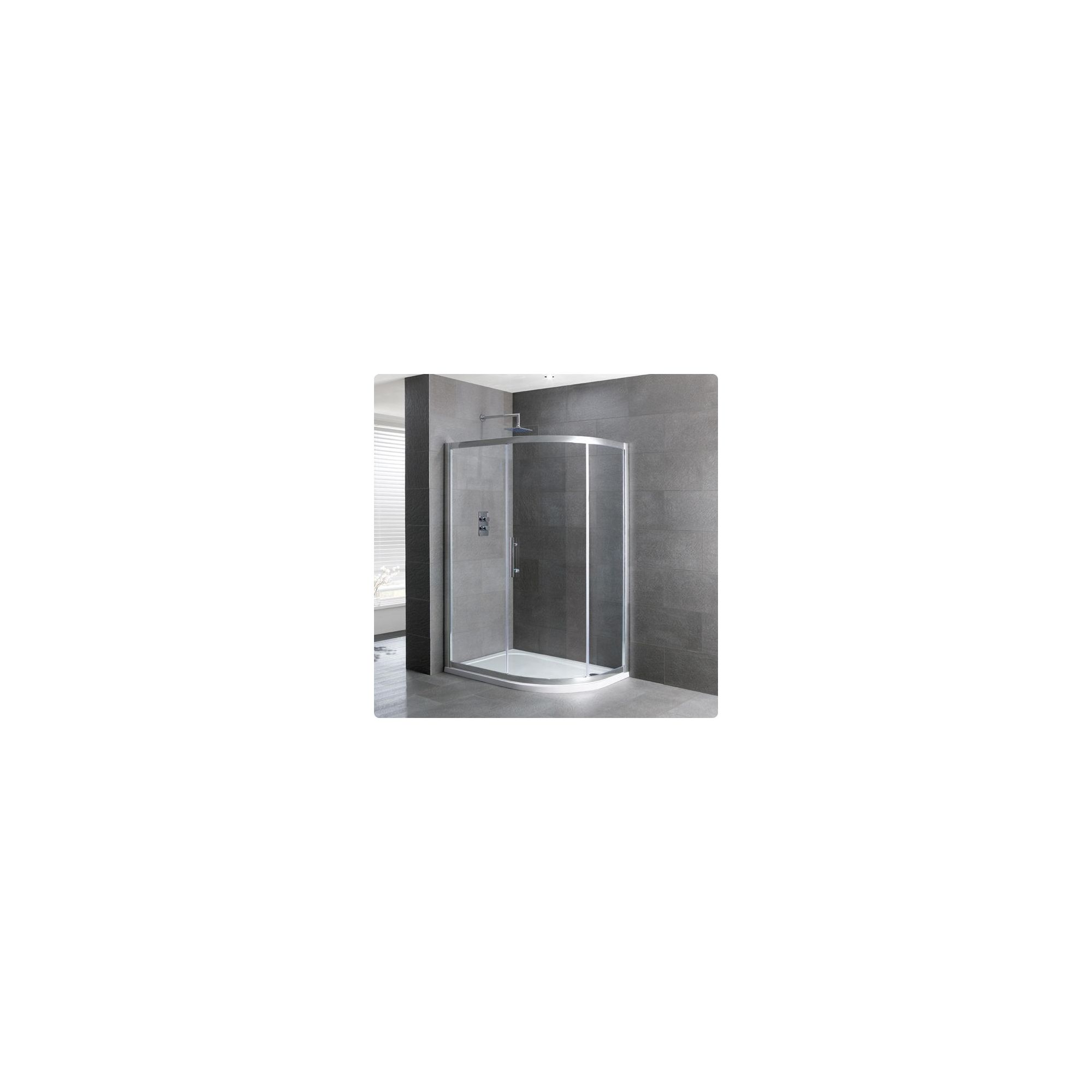 Duchy Select Silver 1 Door Offset Quadrant Shower Enclosure 1200mm x 900mm, Standard Tray, 6mm Glass at Tescos Direct