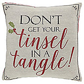 Christmas Tinsel Cushion