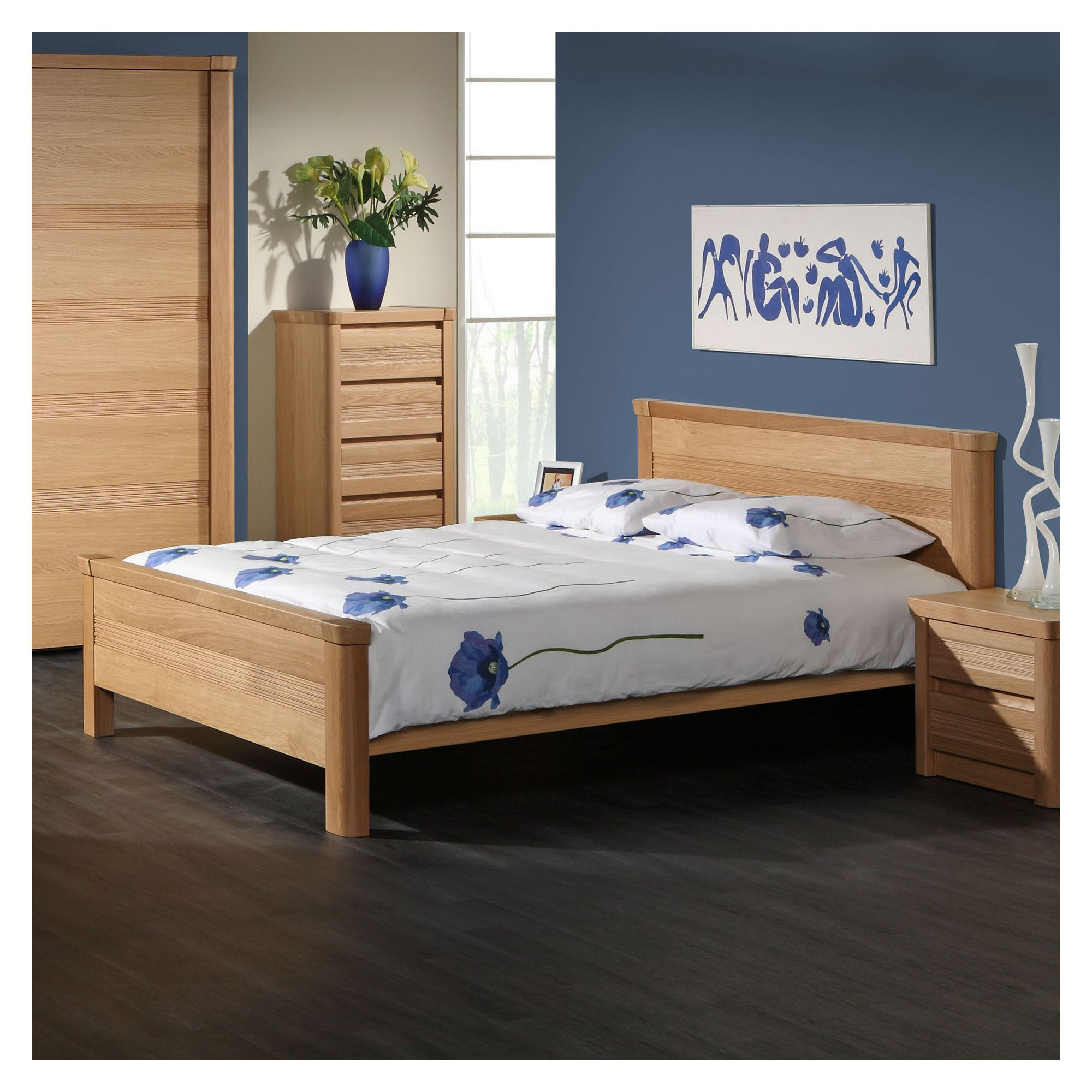 Sleepline Mundo Bed - European Double - Mat Lacquered at Tesco Direct