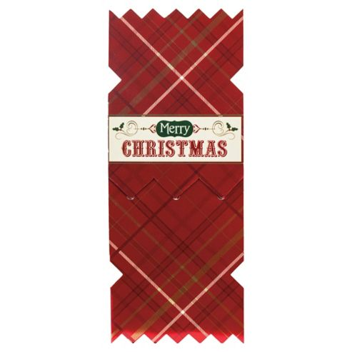Tesco Luxury Cracker Christmas Cards, 6 Pack