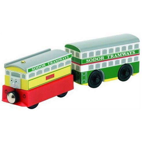 Flora And Tram 2 Pack - Thomas Friends Wooden Railway