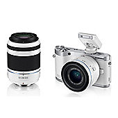 Samsung NX300 Camera White 20-50mm, 20-200mm Lens Kit 20.3MP WiFi 3.31OLED FHD