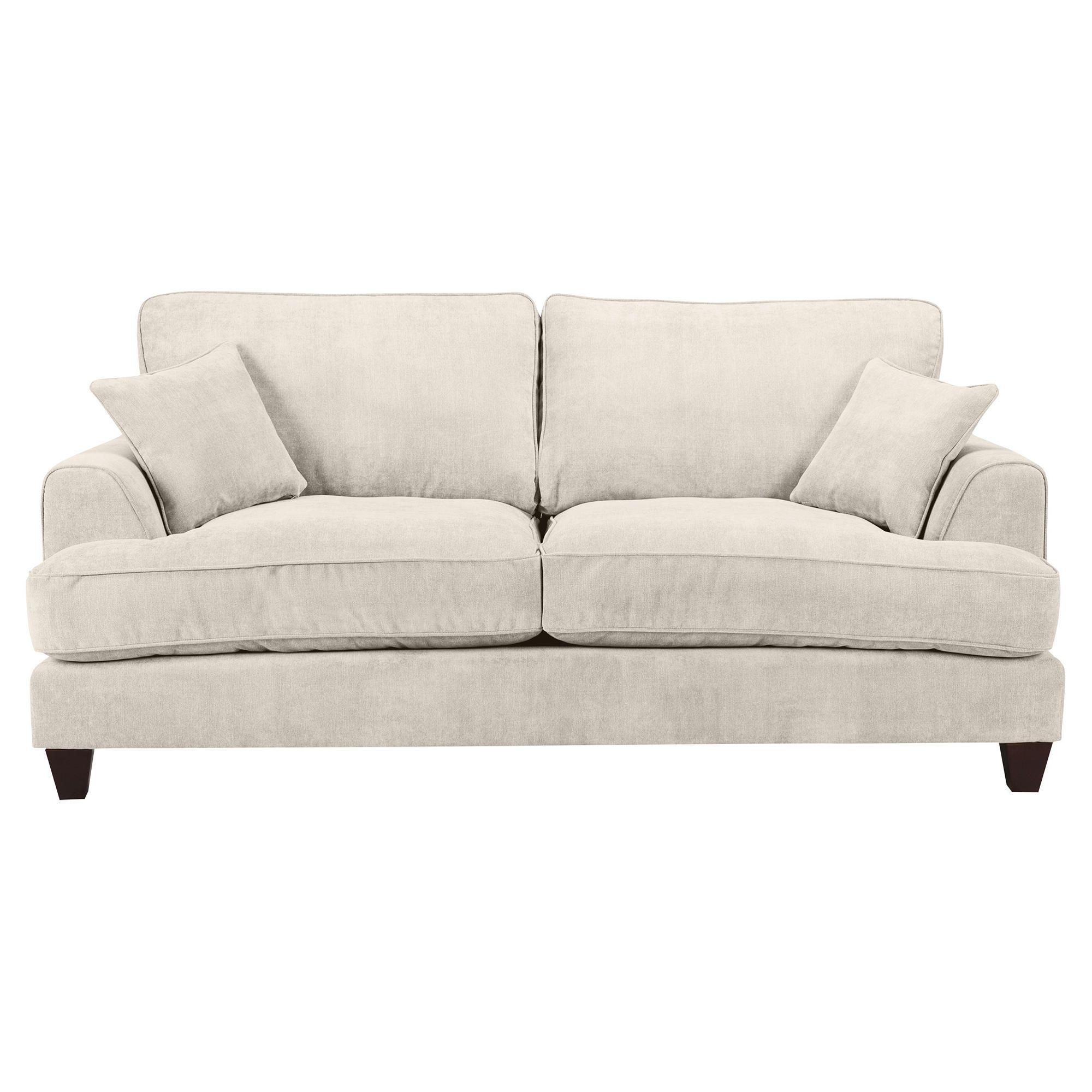 Kensington Fabric Large Sofa Biscuit at Tesco Direct