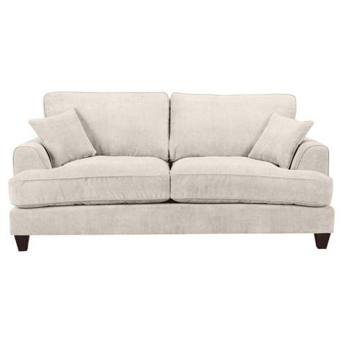 Kensington Fabric Large 3 Seater Sofa Biscuit
