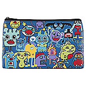 Monsters Flat Pencil Case