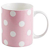 Tesco Pink Spot Mug Single