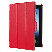 Techair Tri-Fold Folio Case (Red) for iPad