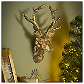 Tesco Large Gold Geometric Stag Head