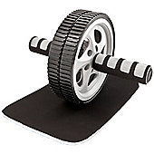 Tunturi Deluxe Double Ab Roller Exercise Wheel with Knee Pad