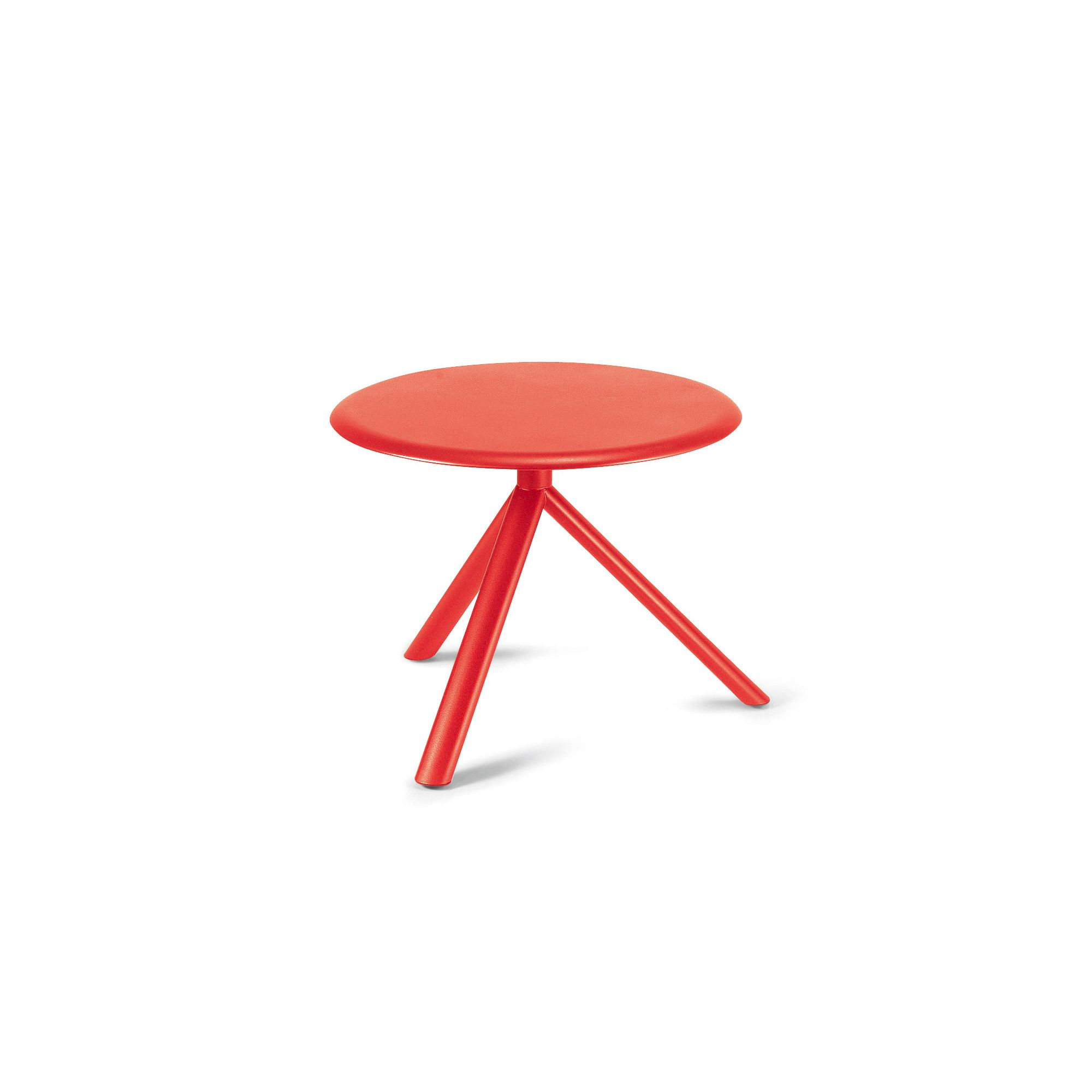 Plank Miura Round Table with Metal Table Top - 45cm - Traffic red at Tesco Direct