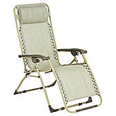 Gravity Recliner Sun Lounger, Cream