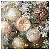 Christmas Baubles, Gold, 20 pack