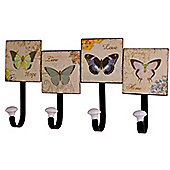 Alterton Furniture Gifts and Accessories Butterfly Friends 4 Piece Hook Set