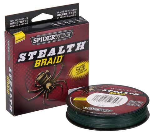 Spiderwire Stealth Moss Green Braid- 125 Yards