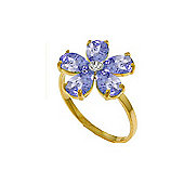 QP Jewellers Diamond & Tanzanite Foliole Ring in 14K Gold