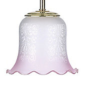 Endon Lighting Pink Glass Sofia Decorative Glass Shade