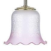 Endon Lighting Pink Glass Sofia Decorative Glass Shade